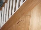 white bannisters /oak under stairs storage