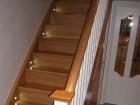 Oak plank tradition /white bannisters /Led lights /motion sensor / oak plank effect laminate floori